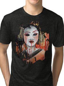 Geisha in Autumn Rain: The Innocent Concubine Tri-blend T-Shirt