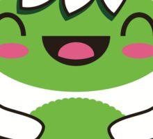 Cute Green Yeti Sticker