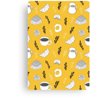 Yellow breakfast Canvas Print