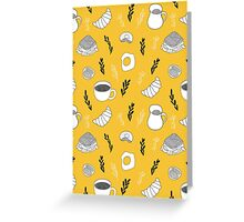 Yellow breakfast Greeting Card