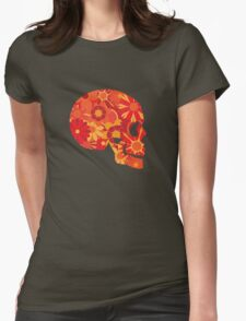 Mexican Skull Art Portrait Illustration Womens Fitted T-Shirt