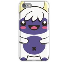 cute purple monster iPhone Case/Skin