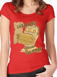 Caballero Churros Women's Fitted Scoop T-Shirt