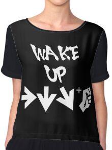 STREET FIGHTER - WAKE UP SHORYUKEN - WHITE Chiffon Top