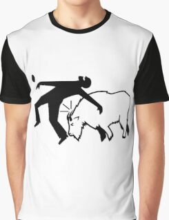 Mountain Goat Ramming Graphic T-Shirt
