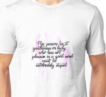 Jane Austen Quote Unisex T-Shirt