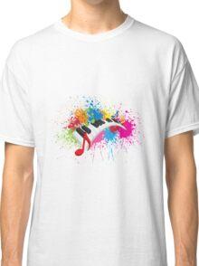 Piano Wavy Keyboard Paint Splatter Abstract Illustration Classic T-Shirt