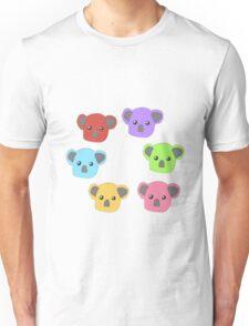 Multicoloured Koalas Unisex T-Shirt