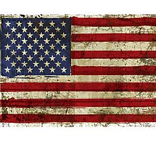 America Grunge Flag Photographic Print
