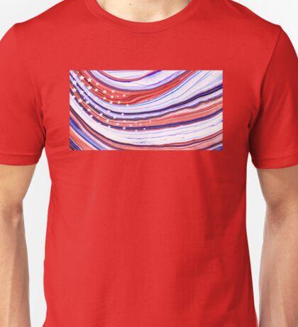 Modern American Flag - Red White And Blue - Sharon Cummings Unisex T-Shirt