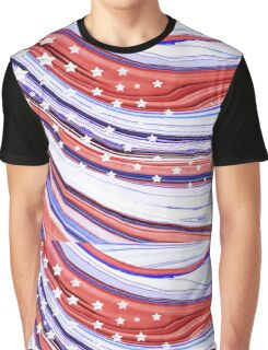 Modern American Flag - Red White And Blue - Sharon Cummings Graphic T-Shirt