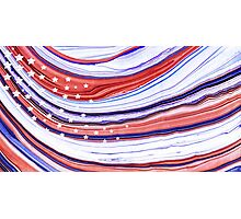 Modern American Flag - Red White And Blue - Sharon Cummings Photographic Print