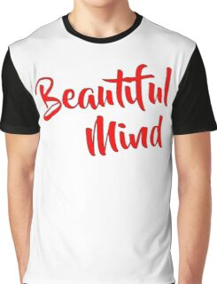 Beautiful Mind Red Graphic T-Shirt