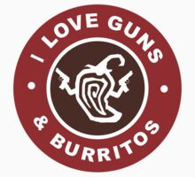 I Love Guns And Burritos Kids Tee