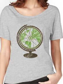 Global Cyclist (green) Women's Relaxed Fit T-Shirt