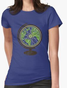 Global Cyclist (green) Womens Fitted T-Shirt