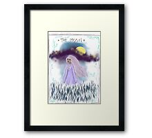 Tarot Card The Moon Goddess Framed Print