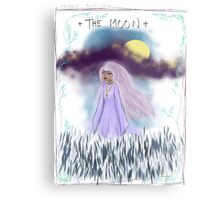 Tarot Card The Moon Goddess Metal Print