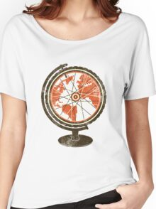 Global Cyclist (orange) Women's Relaxed Fit T-Shirt