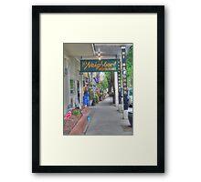 Hi Neighbor Framed Print