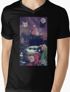 cat surprise Mens V-Neck T-Shirt