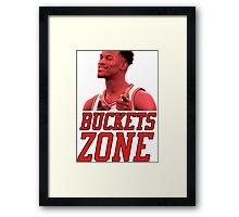 Buckets Zone - Bulls Framed Print