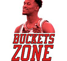 Buckets Zone - Bulls Photographic Print