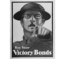 Vintage poster - Victory Bonds Photographic Print