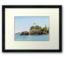 Battle Island Framed Print