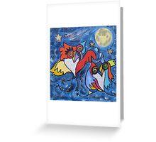 LE BAL DES CHOUETTES Greeting Card