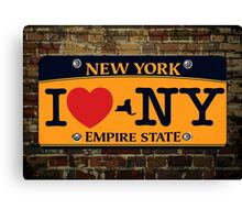 I Love NY Car Plate Prints / iPhone Case/ T-Shirt / iPad Case / Samsung Galaxy Cases  / Pillow / Tote Bag / Duvet  Canvas Print