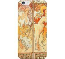 Alphonse Mucha,seasons,art nouveau,vintage,rustic,elegant iPhone Case/Skin