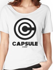 capsule corp black logo Women's Relaxed Fit T-Shirt