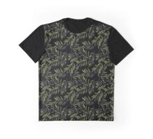 Black Olives Pattern Graphic T-Shirt
