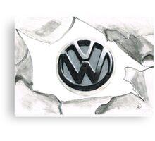 VW tear up Canvas Print