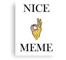 Nice Meme Canvas Print