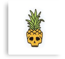 Pineapple Skull - Skateboarding. Canvas Print
