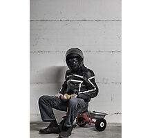 Ironic Biker Photographic Print
