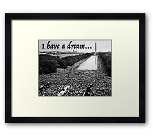Martin Luther King Jr. - MLK I Have A Dream Speech Framed Print