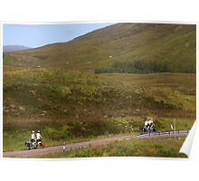 Tandem Cyclists in Glencoe Poster