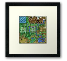 The Legend of Zelda: A Link to the Past Map Framed Print