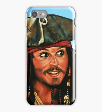 Captain Jack Sparrow Painting iPhone Case/Skin