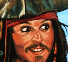 Captain Jack Sparrow Painting Sticker