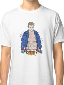 Stranger Things Eleven floral  Classic T-Shirt