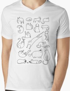 leaping kitty Mens V-Neck T-Shirt