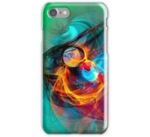 Hummingbird - Colorful Digital Fractal Abstract Art  iPhone Case/Skin