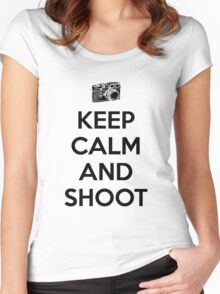 Keep calm and shoot Women's Fitted Scoop T-Shirt