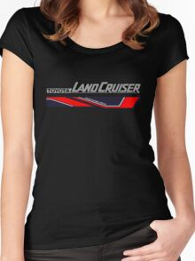Land Cruiser body art series, red two piece. Women's Fitted Scoop T-Shirt