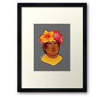 Flower crown Hunk Framed Print
