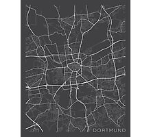 Dortmund Map, Germany - Gray Photographic Print